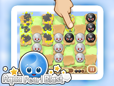 "Image for the mauigo 2D game called ""Aqua Pearl Blast"""