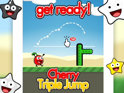 "Image for the mauigo 2D game called ""Cherry Triple Jump"""
